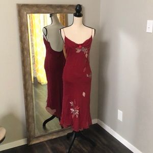 Laundry by Shelli Segal crimson cocktail dress